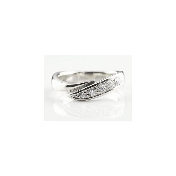 婚約指輪 エンゲージリング ダイヤモンド リング 指輪 ダイヤ ダイヤモンドリング ホワイトゴールドk18 スパイラル ウェーブリング 18金 レディース  女性