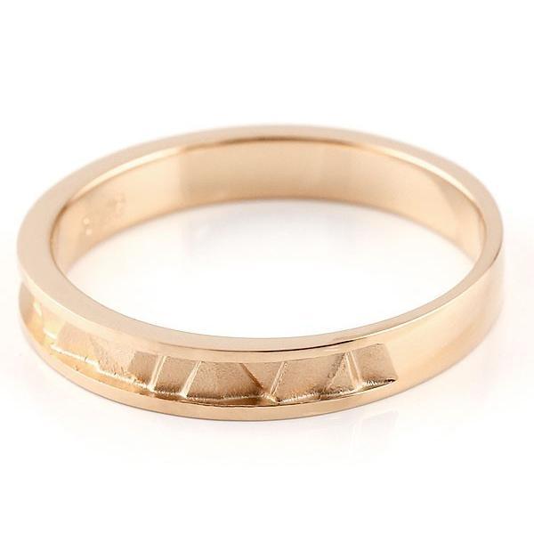 ペアリング ピンクゴールドk10 マリッジリング 結婚指輪  ストレート カップル 10金 宝石なし 地金  プレゼント 女性 母の日