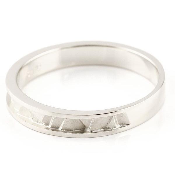 ペアリング ホワイトゴールドk10 マリッジリング 結婚指輪  ストレート カップル 10金 宝石なし 地金  プレゼント 女性 母の日