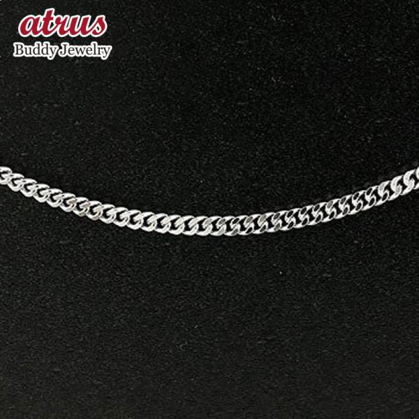 喜平 シルバー ネックレス チェーン 2面カット 3ミリ幅 50cm 鎖 レディース sv925 キヘイ 地金 ネックレス 母の日