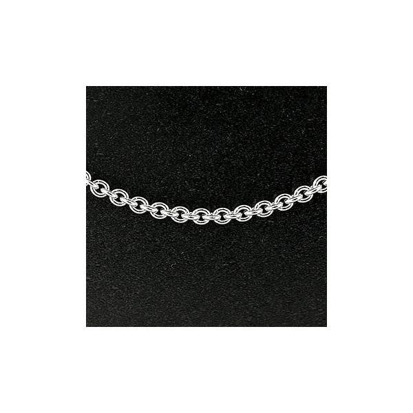 切り売り シルバーネックレス 3.8ミリ幅 小判 アズキ チェーン 鎖 レディース sv925 地金ネックレス