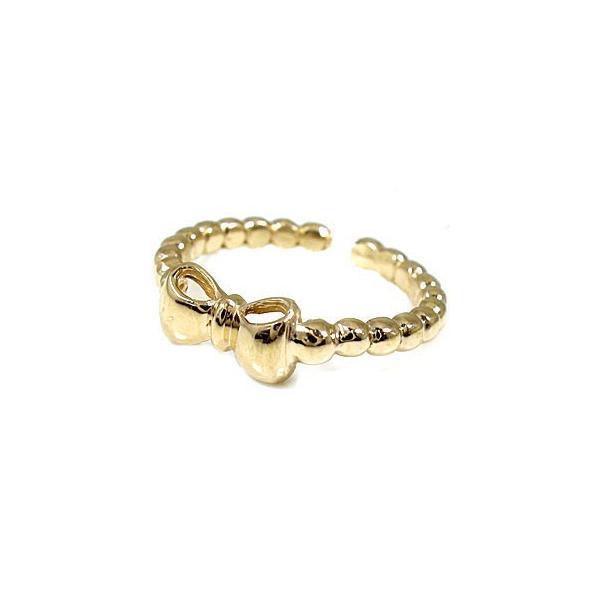 トゥリング ペアリング 結婚指輪 マリッジリング ホワイトゴールドk18 イエローゴールドk18 リボン フリーサイズリング 指輪 ハンドメイド 結婚式 18金 母の日