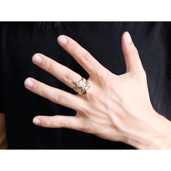 結婚指輪 ペアリング メンズ プラチナ pt900 ユリの紋章 幅広 指輪 男性用 地金リング トラスト フルール・ド・リス
