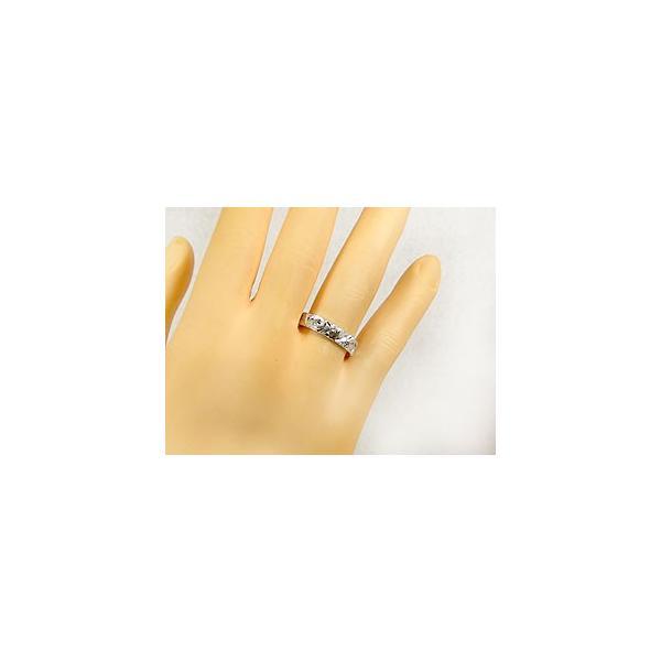 ハワイアンジュエリー ペアリング 結婚指輪 ホワイトゴールドk18 マリッジリング 地金リング 18金 トラスリング ストレート カップル 3本セット 母の日