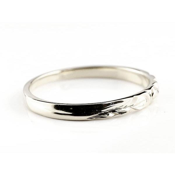 ハワイアンジュエリー ペアリング 結婚指輪 ホワイトゴールドk10 マリッジリング 地金リング 10金 トラスリング ストレート カップル 3本セット 母の日