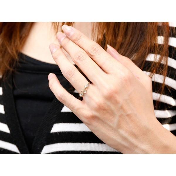オープンハート リング キュービックジルコニア 指輪 ピンキーリング ホワイトゴールドk18 華奢リング 重ね付け 18金 レディース 母の日