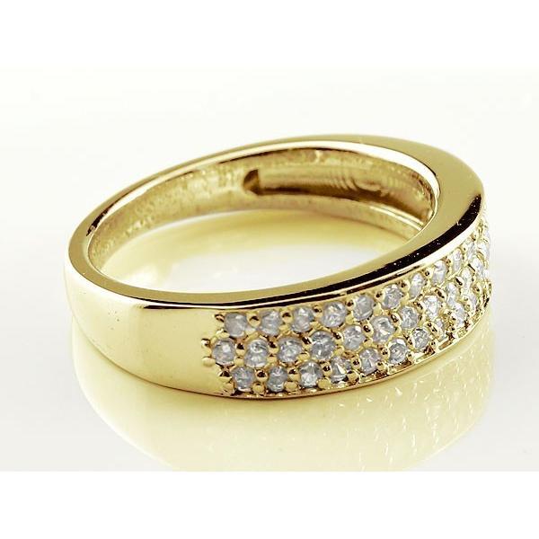 婚約指輪 エンゲージリング ダイヤモンド 指輪 イエローゴールド k10 パヴェ ダイヤモンドリング ダイヤ 0.50ct 母の日