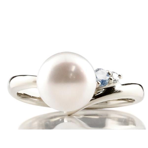 パールリング 真珠 フォーマル エンゲージリング 婚約指輪  ブルームーンストーン シルバー925 リング ダイヤモンド ダイヤ 指輪 宝石  女性 母の日