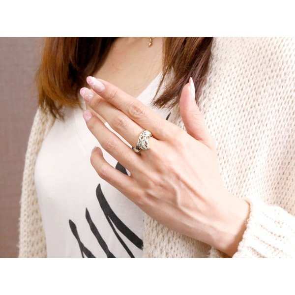 リング ダイヤモンド ホワイトゴールドk18 指輪 透かし 幅広リング アラベスク レディース ピンキーリング ミル打ち 18金 宝石 母の日