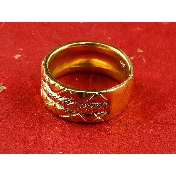 24金 指輪 メンズ 純金 リング 幅広 k24 24k ゴールド ピンキーリング 重ね付けデザイン 男性用 人気 送料無料 atrus 02