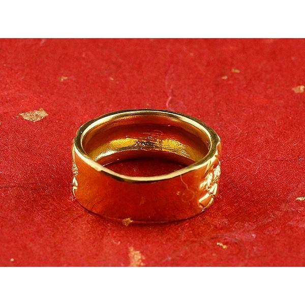 24金 指輪 メンズ 純金 リング 幅広 k24 24k ゴールド ピンキーリング 重ね付けデザイン 男性用 人気 送料無料 atrus 03