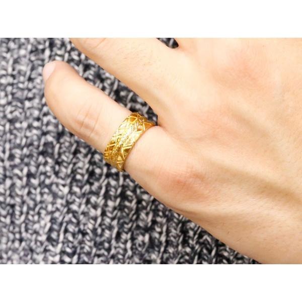24金 指輪 メンズ 純金 リング 幅広 k24 24k ゴールド ピンキーリング 重ね付けデザイン 男性用 人気 送料無料 atrus 04