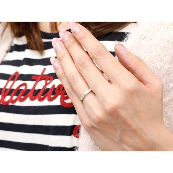 シルバー925 ピンキーリング ペリドット キュービックジルコニア アンティーク ストレート 8月誕生石 指輪 キュービックリング 母の日