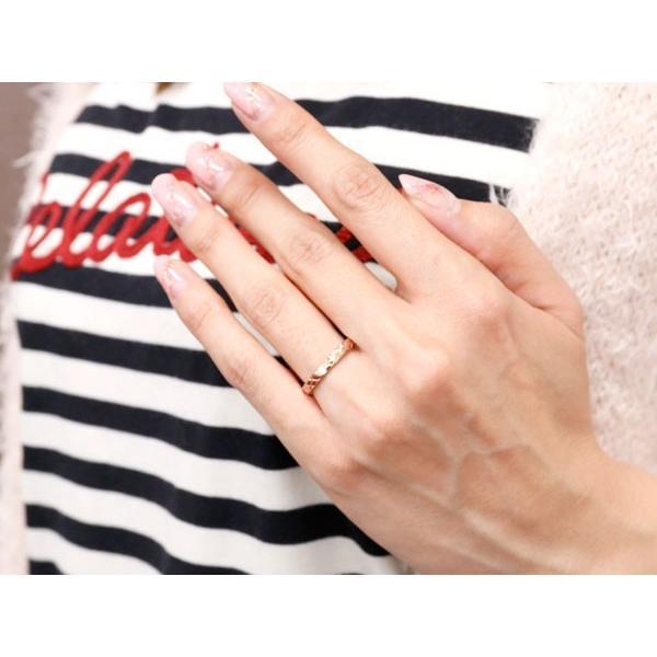 ペアリング 結婚指輪 マリッジリング ダイヤモンド ピンクゴールドk18 ホワイトゴールドk18 k18wg アンティーク 結婚式 ダイヤ ストレート18金 ダイヤリング