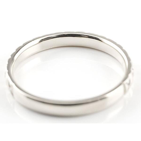 ペアリング 結婚指輪 マリッジリング ホワイトゴールドk18 k18wg アンティーク 結婚式 ストレート 18金 地金リング カップル  プレゼント 女性 母の日