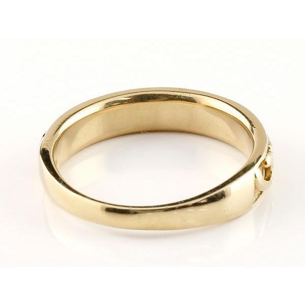 婚約指輪 エンゲージリング 指輪 地金リング イエローゴールドk10 アラベスク ストレート 宝石無し ホーニング つや消し 10金 宝石  女性 ペア 母の日