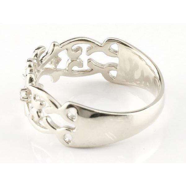 マリッジリング ペアリング 指輪 キュービックジルコニア 透かし アラベスク ストレート シルバー 宝石 母の日