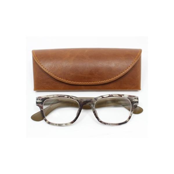 メガネ Bayline ベイライン LUXE カモフラージュ 迷彩柄 カーキ リーディンググラス 老眼鏡 おしゃれ レディース ミセス +2.0 拡大鏡 ウェリントン 女性用