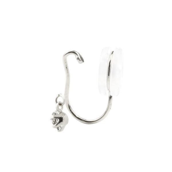片耳イヤリング ダイヤモンド プラチナ900 シリコン クリップ式 pt900 ノンホールピアス レディースイヤリング 母の日