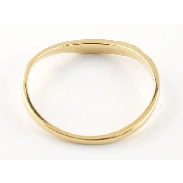 スイートペアリィー インフィニティ ペアリング 結婚指輪 マリッジリング ダイヤモンド イエローゴールドk10 V字 つや消し 一粒 10金 華奢  最短納期 母の日