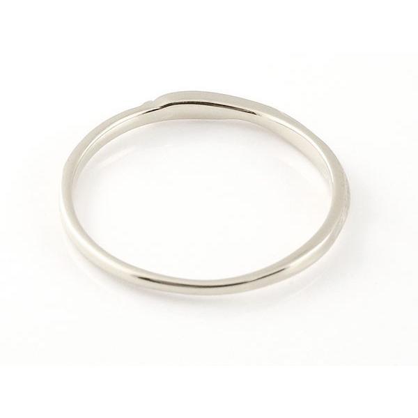 スイートペアリィー インフィニティ ペアリング 結婚指輪 マリッジリング ダイヤモンド シルバー925 S字 つや消し 一粒 シルバー 華奢  最短納期 母の日