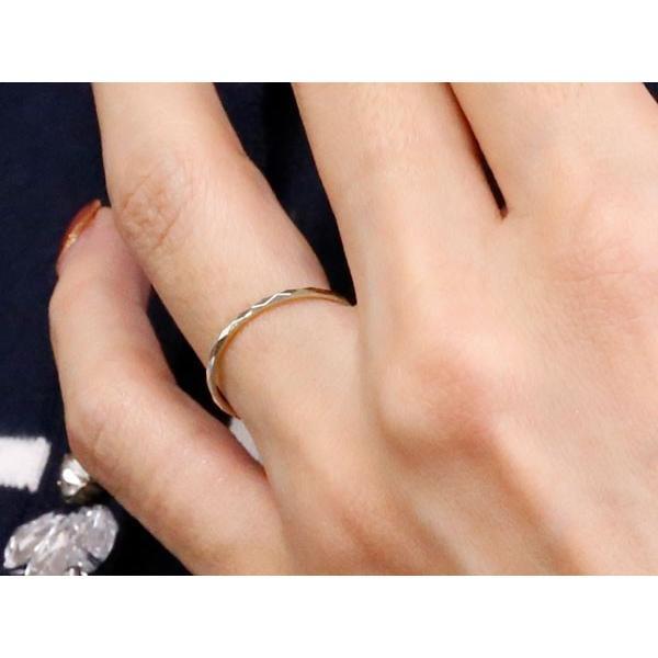 ペアリング 結婚指輪 マリッジリング ホワイトゴールドk18 カットリング 地金 ストレート 18金 母の日