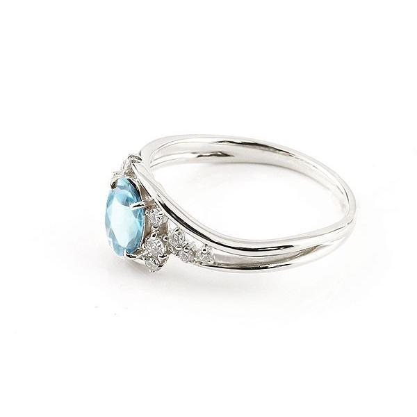 エンゲージリング 婚約指輪 一粒 ブルートパーズ ホワイトゴールドk10 大粒 指輪 ダイヤモンド 11月誕生石 10金 宝石 母の日