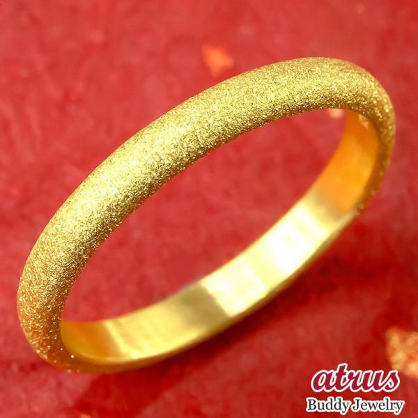 純金 24金 ゴールド k24 幅広 指輪 ピンキーリング  ホーニング加工 つや消し 地金リング 21-25号 ストレート レディース  プレゼント 女性 ペア 母の日