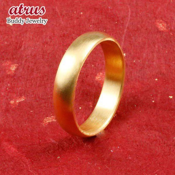純金 24金 ゴールド k24 幅広 指輪 ピンキーリング 婚約指輪 エンゲージリング  ホーニング加工 つや消し 地金リング 16-20号 ストレート メンズ