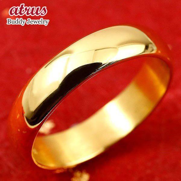 24金 指輪 メンズ 純金 ゴールド 24k k24 シンプル 幅広 ピンキーリング 婚約指輪 安い 地金リング 16-20号 ストレート 送料無料