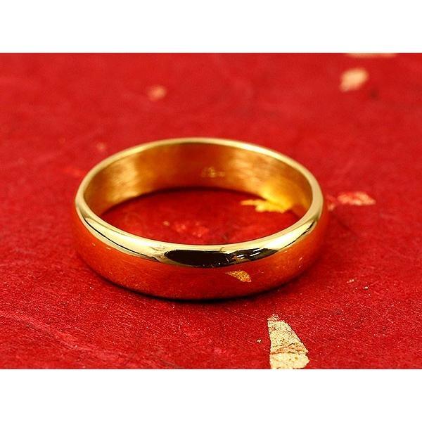 純金 24金 ゴールド k24 幅広 指輪 ピンキーリング  地金リング 1-10号 ストレート レディース 母の日