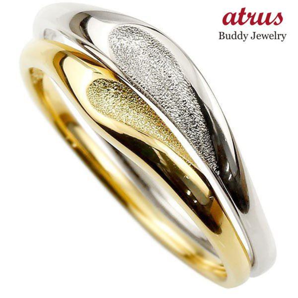 結婚指輪 安い ペアリング 結婚指輪 マリッジリング ハート プラチナ イエローゴールドk18 つや消し スターダスト加工 pt900 18金 スイートペアリィー  最短納期|atrus