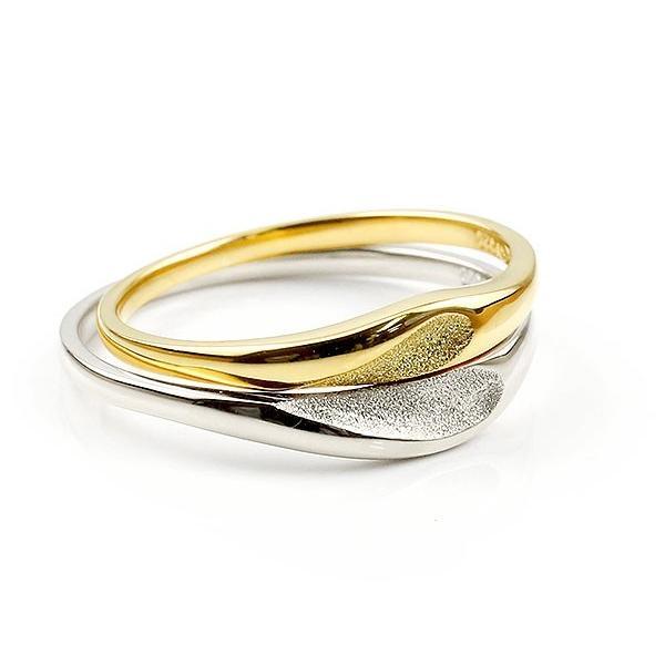 結婚指輪 安い ペアリング 結婚指輪 マリッジリング ハート プラチナ イエローゴールドk18 つや消し スターダスト加工 pt900 18金 スイートペアリィー  最短納期|atrus|02