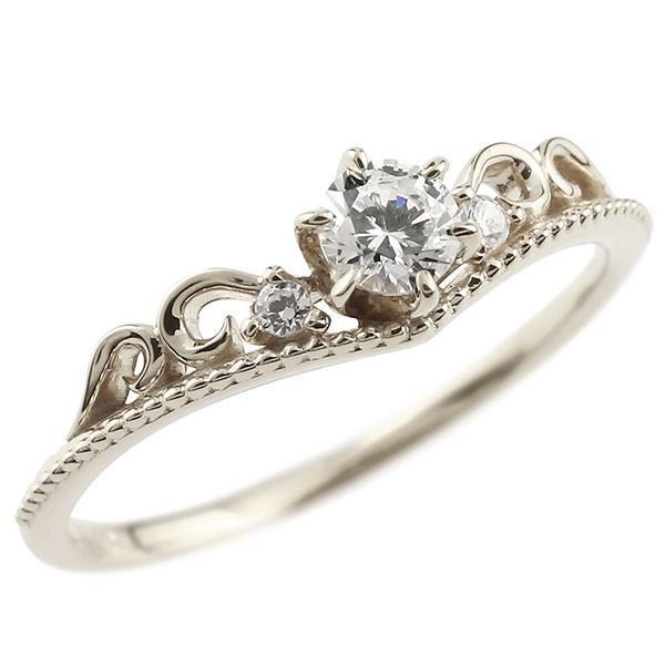 鑑定書付き SIクラス プラチナ リング ダイヤモンド ティアラ ミル打ち 指輪 一粒 大粒 ダイヤ プラチナリング ダイヤモンドリング pt900 母の日