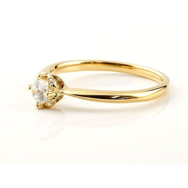イエローゴールド リング ダイヤモンド ハート 指輪 一粒 大粒 ダイヤ イエローゴールドリング ダイヤモンドリング k18 18金 母の日
