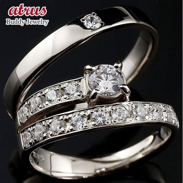 プラチナ ダイヤモンド ペアリング 結婚指輪 エタニティ リング マリッジリング 一粒 大粒 リング ダイヤ 母の日