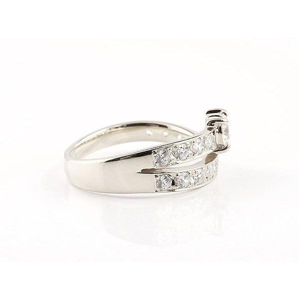 ダイヤモンド ペアリング 結婚指輪 ホワイトゴールドk18 エタニティ リング マリッジリング 一粒 大粒 リング ダイヤ 18金 母の日