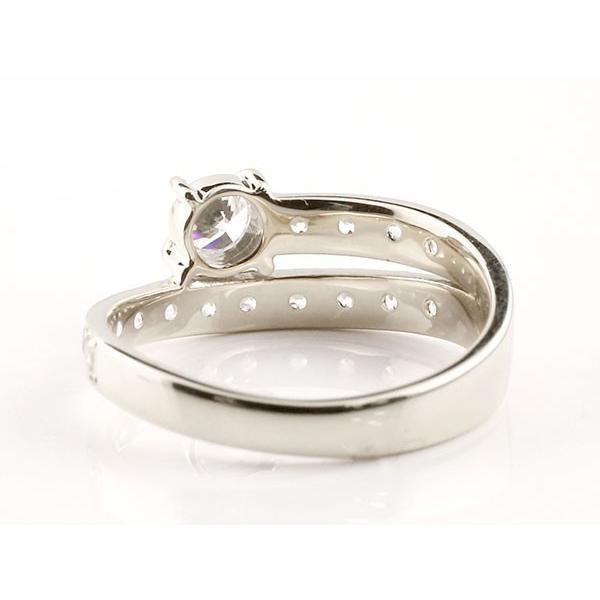 鑑定書付き SIクラス ダイヤモンド ペアリング 結婚指輪 ホワイトゴールドk18 エタニティ リング マリッジリング 一粒 大粒 リング ダイヤ 18金 母の日