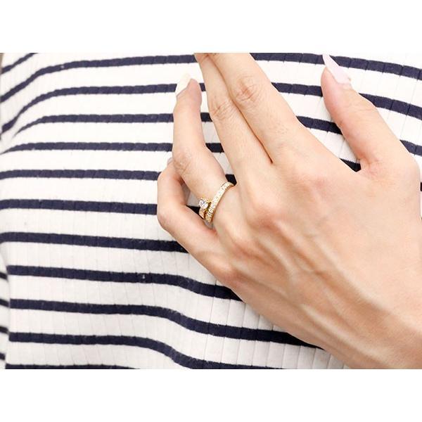 鑑定書付き SIクラス ダイヤモンド ペアリング 結婚指輪 イエローゴールドk10 エタニティ リング マリッジリング 一粒 大粒 リング ダイヤ 10金 母の日