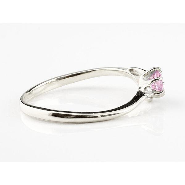 婚約指輪 安い エンゲージリング イニシャル ネーム F 婚約指輪 ピンクサファイア ダイヤモンド プラチナ 指輪 アルファベット レディース 9月誕生石 人気