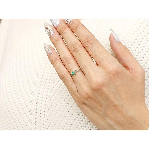エンゲージリング イニシャル ネーム J 婚約指輪 エメラルド ダイヤモンド シルバー 指輪 アルファベット レディース 5月誕生石 人気  女性 ペア 母の日