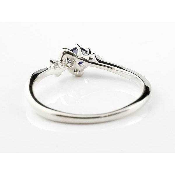 イニシャル ネーム K ピンキーリング アイオライト ダイヤモンド 華奢リング シルバー 指輪 アルファベット レディース 人気 母の日