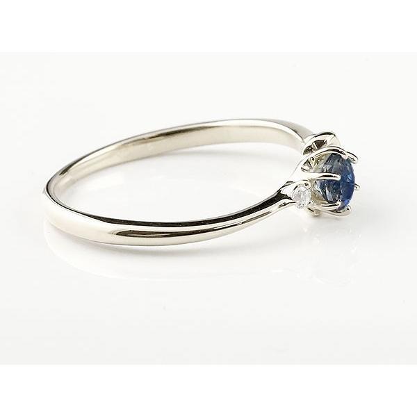 エンゲージリング イニシャル ネーム K 婚約指輪 ブルーサファイア ダイヤモンド シルバー 指輪 アルファベット レディース 9月誕生石 人気  女性 母の日