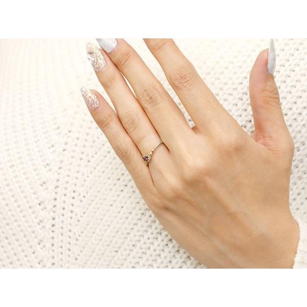 エンゲージリング イニシャル ネーム M 婚約指輪 ガーネット ダイヤモンド ホワイトゴールドk10 指輪 アルファベット 10金 レディース 1月誕生石 人気  女性