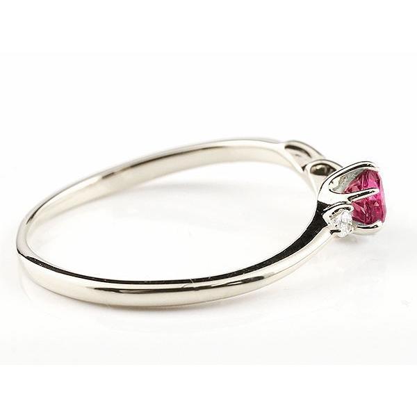 エンゲージリング イニシャル ネーム N 婚約指輪 ルビー ダイヤモンド シルバー 指輪 アルファベット レディース 7月誕生石 人気  女性 ペア 母の日