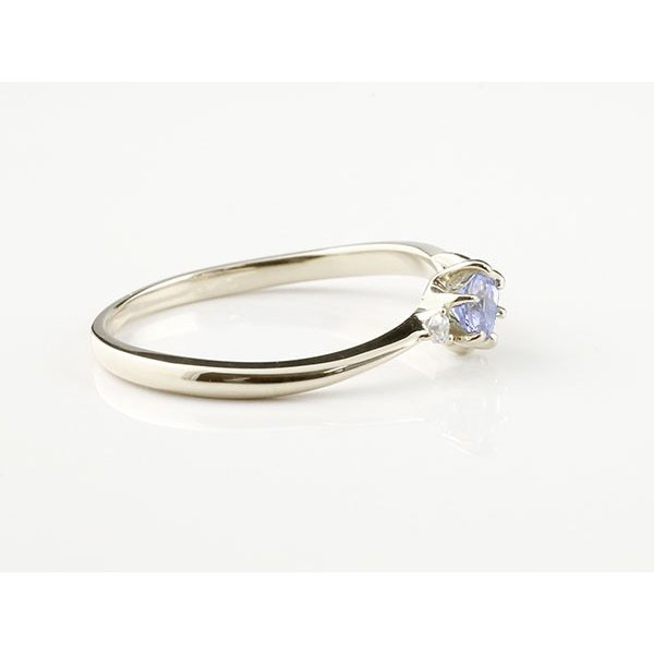 イニシャル ネーム S ピンキーリング タンザナイト ダイヤモンド 華奢リング シルバー 指輪 アルファベット レディース 12月誕生石 人気 母の日
