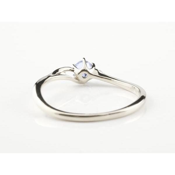 エンゲージリング イニシャル ネーム T 婚約指輪 タンザナイト ダイヤモンド ホワイトゴールドk18 指輪 アルファベット 18金 レディース 12月誕生石 人気 母の日