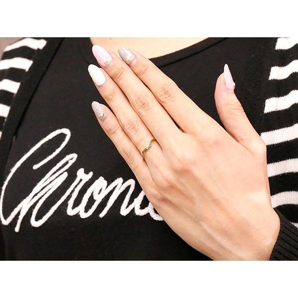 結婚指輪 マリッジリング ペアリング プラチナ イエローゴールドk18 ダイヤモンド スイートペアリィー 結び リング pt900 18金 華奢 コンビ 秋 冬|atrus|04
