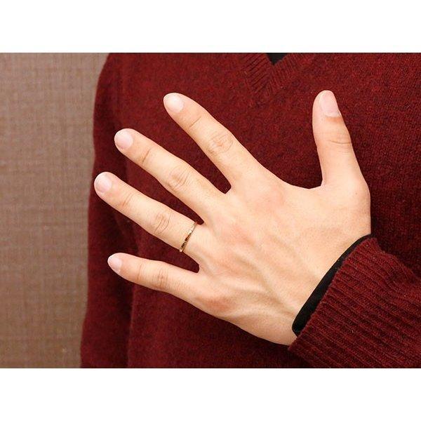 結婚指輪 安い ペアリング プラチナ ピンクゴールドk10 ダイヤモンド スイートペアリィー 結び 結婚指輪 マリッジリング リング pt900 10金 地金リング コンビ