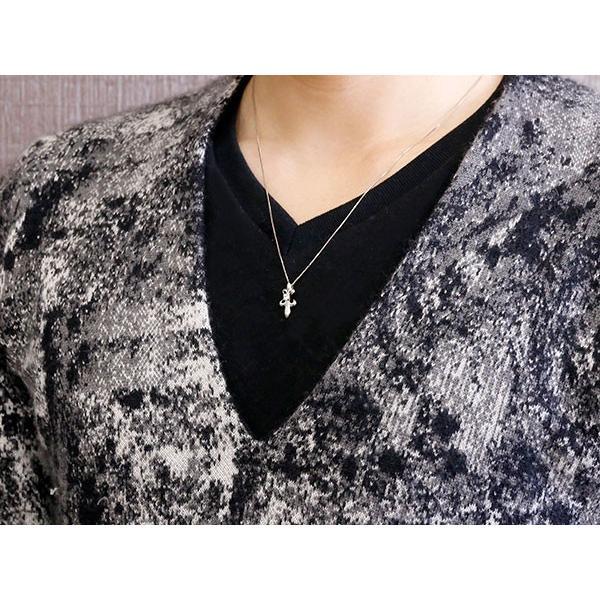 ネックレス メンズ ダイヤモンド ペンダントプラチナ900  ダイヤ 百合 ユリの紋章 プラチナ チェーン 人気 フルール・ド・リス あすつく 送料無料|atrus|04